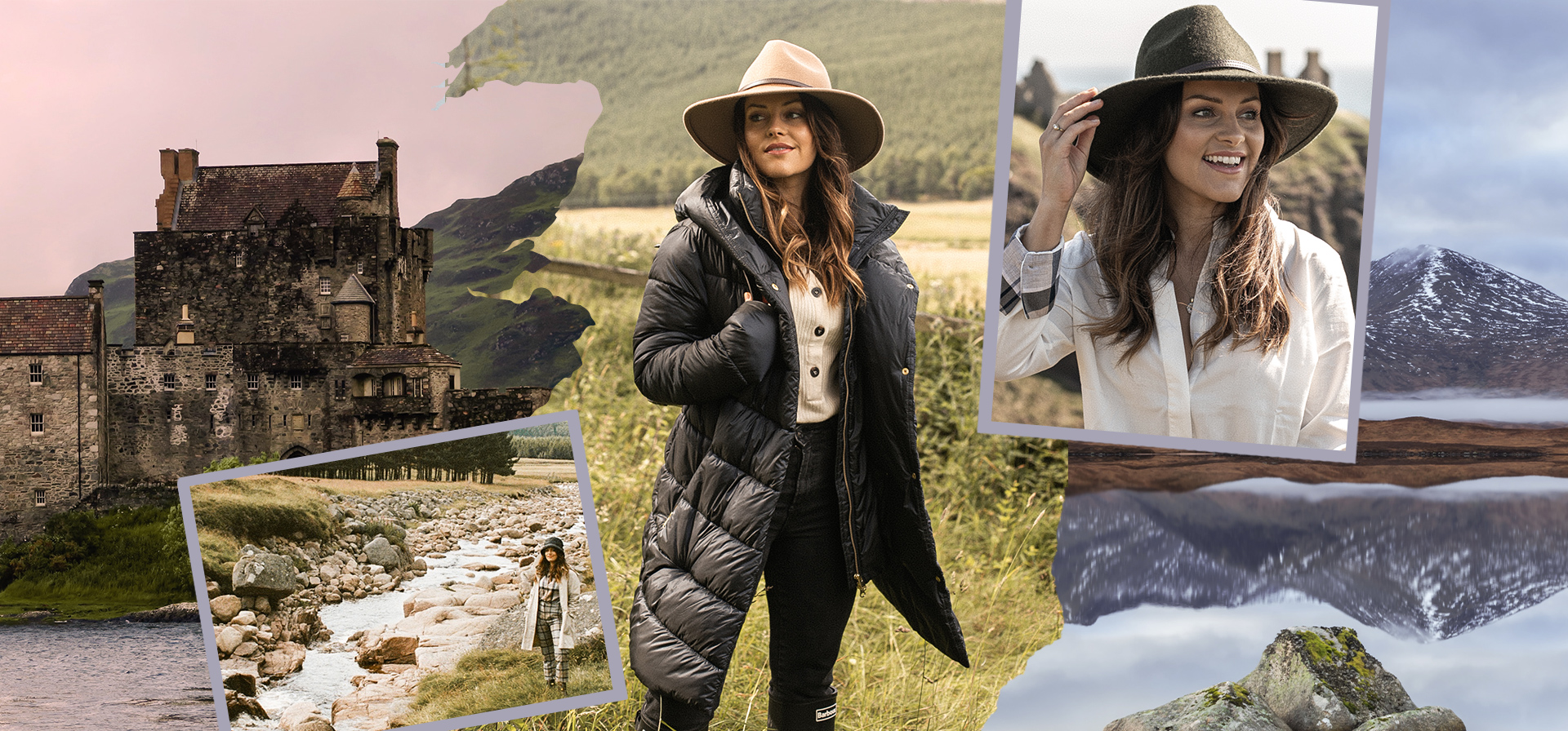 (Barbour) Barbour AW20 Women's Tartan Collection with Amy Bell
